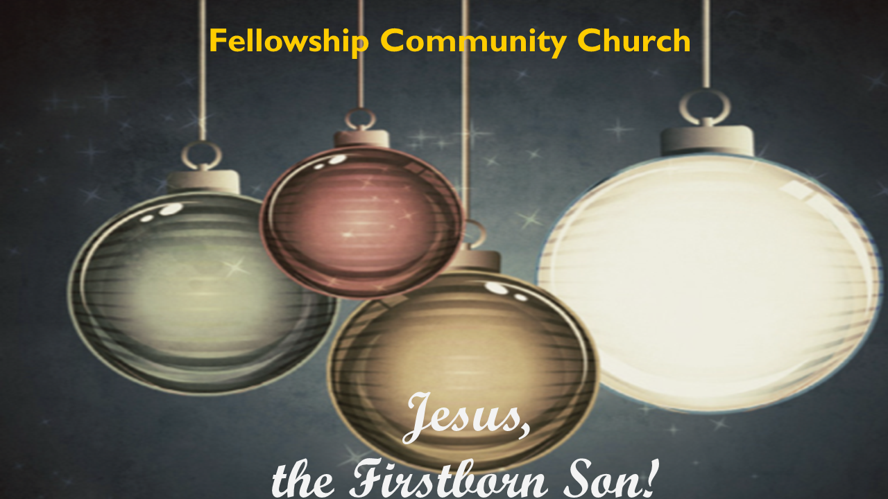 Jesus, The Firstborn Son